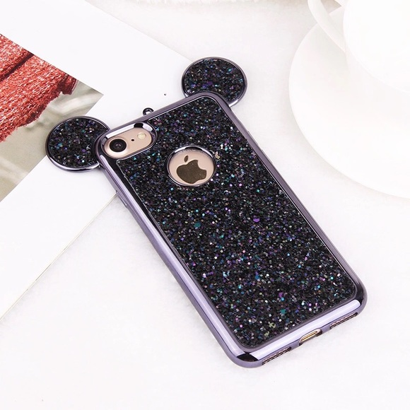 Luxury 3D Mickey Bling Glitter IPhone 6 Plus Case 765610196462